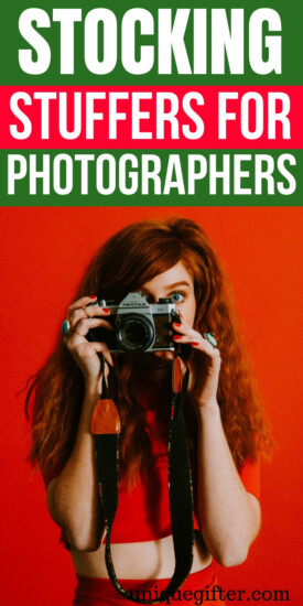 stocking stuffers for photographers | What to put in stocking for a photographer | Photographer Stocking Stuffer Ideas | Unique Stocking Stuffers for Photographer | Creative gifts for stockings for a photographer | #photographer #stockingstuffer #Christmas