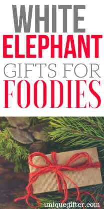 white elephant gifts for foodies | What to buy for a white elephant | Foodie gift ideas for a White Elephant | Creative White Elephant Foodie Gift Ideas | Silly White Elephant Gifts that A Foodie would like | Foodie White elephant Ideas | #whiteelephant #foodie #Christmas