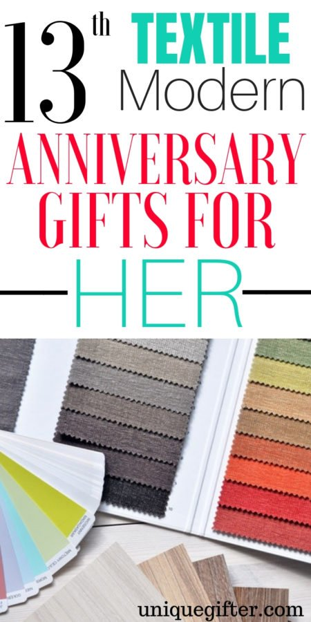 20 13th Textile Modern Anniversary Gifts for Her