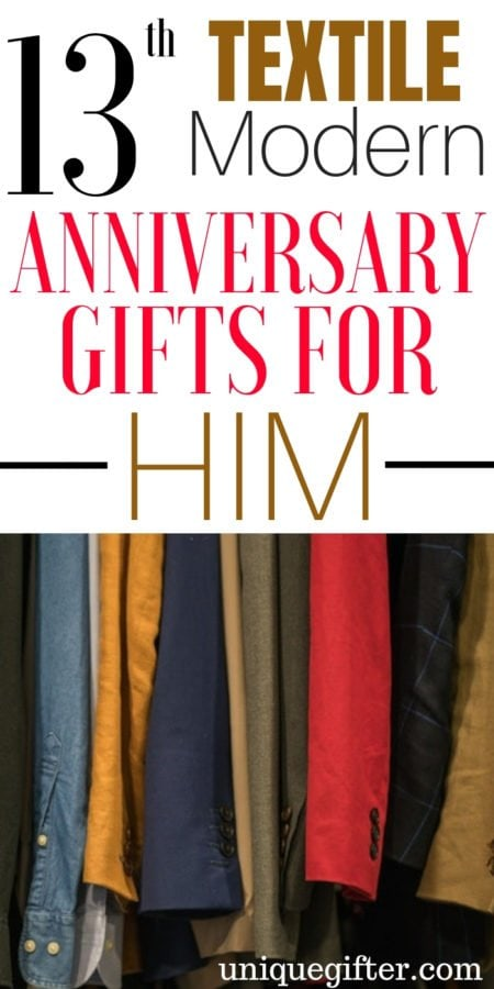 20 13th Textile Modern Anniversary Gifts for Him