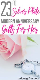 23rd Silver Plate Modern Anniversary Gifts For Her | 23rd Wedding Anniversary Gifts | 23rd Anniversary Gifts | Anniversary Gifts For Her | 23rd Anniversary Gift Guide | Unique Gifts For Wife | Creative Gifts For Wife | Creative Anniversary Gifts | Unique Anniversary Gifts | #gifts #giftguide #presents #anniversary #unique