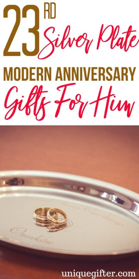 19 23rd Silver Plate Modern Anniversary Gifts for Him