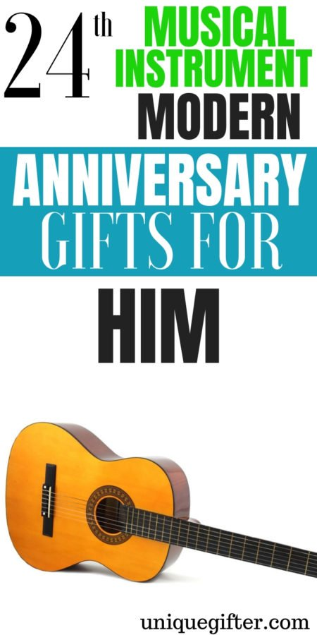 20 24th Musical Instrument Modern Anniversary Gifts for Him