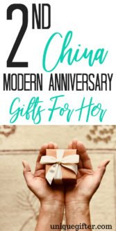 Fun and china modern anniversary gifts for her | Even if you can't afford a plane ticket to China, you can find a lovely second wedding anniversary gift that follows the modern theme, using a pun to make it funny or just a pretty piece of china. Find the perfect anniversary gift idea for my wife | #anniversary #gifts #giftguide