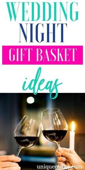 Wedding Night Gift Basket Ideas | Honeymoon Gift Baskets | Gifts For Wedding Night | Gifts For Honeymoon | Creative Honeymoon Gifts | Unique Honeymoon Gifts | Romantic Honeymoon Gifts | Romantic Presents| #gifts #giftguide #wedding #honeymoon #unique