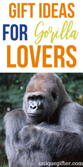 Gift Ideas For Gorilla Lovers | Gift Giving For Gorilla Fans | Christmas Gifts For Gorilla Fanatics | Presents For Gorilla Fans | Presents For Gorilla Lovers | Gorilla Gift Guide | Gorilla Present Guide | Gorilla Christmas Gift Guide | #gifts #giftguide #gorillas #presents #christmas