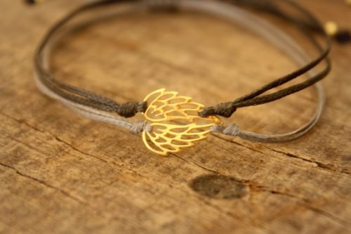 This angel wing bracelet is a very thoughtful sympathy gift ideas for loss of mother.