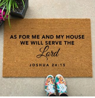 This Welcome gifts for new church members allows everyone to enter their home with a blessing.