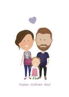 Last Minute Gift Ideas| Custom Family Portrait Illustration