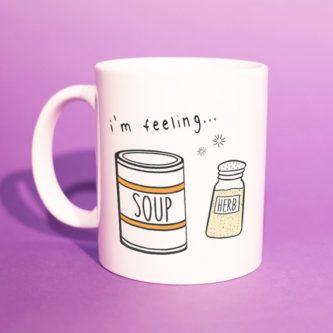 """I'm feeling… soup herb"" Mug"