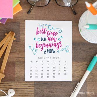 Inspirational Printable Desk Calendar