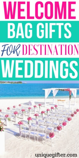 Welcome Bag Gifts For Destination Weddings | Destination Wedding | Gifts For Destination Weddings | Gifts For Wedding Guests | Party Favors For Destination Wedding | Party Favors | Wedding Gifts For Guests | #gifts #giftguide #presents #wedding #unique