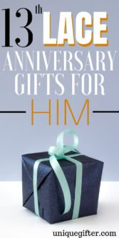 13th Lace Anniversary Gifts For Him | Gifts for 13th Wedding Anniversary | Gifts For Husband | Creative Anniversary Gifts | Creative 13th Anniversary Gifts | Anniversary Gifts For Him | Lace Anniversary Gift Ideas | Gift Ideas For 13th Anniversary | #gifts #giftguide #anniversary #presents #unique