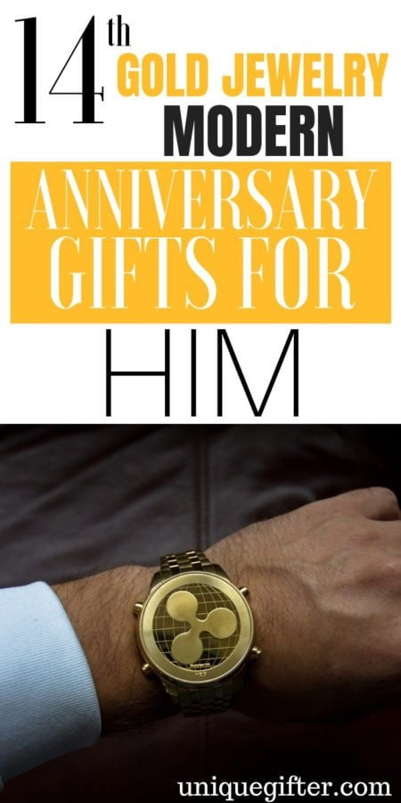20 14th Gold Jewelry Modern Anniversary Gifts for Him