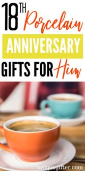 18th Porcelain Modern Anniversary Gifts for Him | Anniversary Gifts For Your Husband | 18th Anniversary Gifts | Gift Ideas For 18th Anniversary | Creative Gift Ideas For Husband | Anniversary Presents For 18th | Gift Ideas For 18th Wedding Anniversary | Modern Anniversary Gifts | #gifts #anniversary #giftguide #porcelain #presents