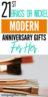 21st Brass or Nickel Modern Anniversary Gifts For Her | 21st Anniversary Gifts For Her | 21st Wedding Anniversary Gifts | Gifts For Her | Anniversary Gifts For Your Wife | Wife Gifts For Anniversary | 21st Anniversary Gifts | Creative Gifts For Her | Unique Gifts For Her | #gifts #giftguide #presents #anniversary #unique