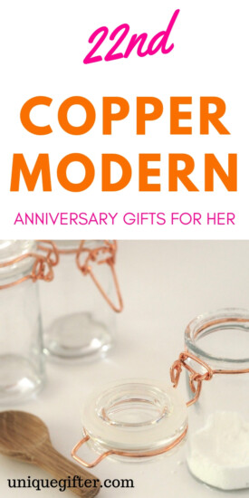 22 Copper Modern Anniversary Gifts For Her | 22nd Wedding Anniversary Gifts | Gift Ideas for 22nd Wedding Anniversary | Anniversary Gifts For Your Wife | Gifts For Her | Anniversary Gifts For Her | 22nd Anniversary Gifts For Wife | #gifts #anniversary #guideguide #presents #wife