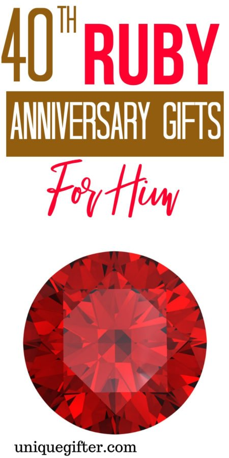 20 40th Ruby Anniversary Gifts for Him