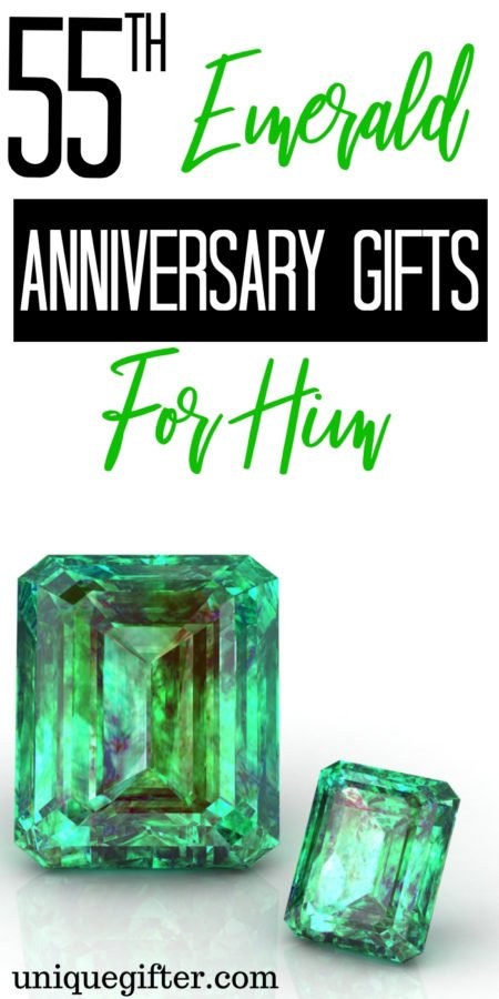 20 55th Emerald Anniversary Gifts for Him