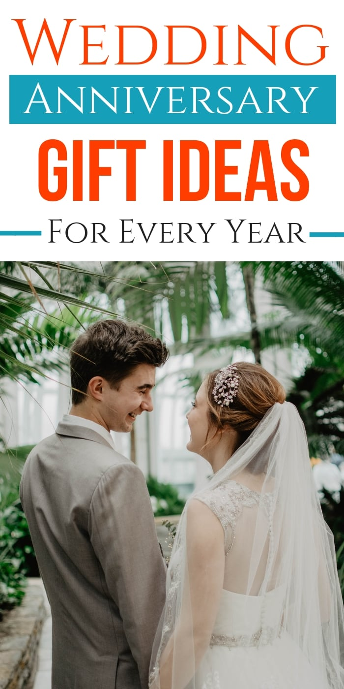 Every anniversary gift theme by year, starting with first anniversary gifts and ideas for every milestone anniversary along the way. Pick from traditional, modern or just creative gifts that your spouse will absolutely love! These are fun and creative ideas to suit everyone. Celebrate your anniversary with an amazing present this year. #anniversary #giftguide #gifts #presents #wedding