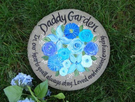 This sympathy gift ideas for loss of father would be a thoughtful starting piece to a memorial garden.