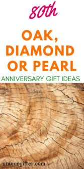 80th Oak, Diamond or Pearl Anniversary Gift Ideas | Gifts For Your Husband | Gifts For Your Wife | Wedding Anniversary Gifts | 80th Wedding Anniversary | Unique 80th Anniversary Gifts | Creative 80th Anniversary Gifts | 80th Anniversary Gifts For Wife | 80th Anniversary Gifts For Husband | #gifts #giftguide #anniversary #presents #unique