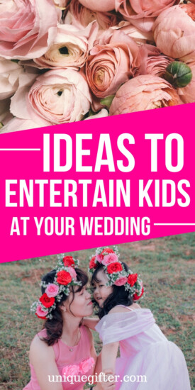 Creative Ideas to Entertain Kids at Your Wedding | DIY wedding activity ideas | How to include children in a wedding | How to keep kids busy at a wedding | Fun activities for kids at weddings | Outdoor wedding games | #wedding #kids #kidactivites