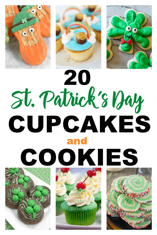 St. Patrick's Day Cupcakes And Cookies | St. Patrick's Day Recipes | St. Patrick's Day Cookies | St. Patrick's Day Cupcakes | Delicious Cookies | Delicious Cupcakes | St. Patrick's Day | Easy Cookie Recipes | Simple Cupcake Recipes | #stpatricksday #cookies #cupcakes #easy #unique