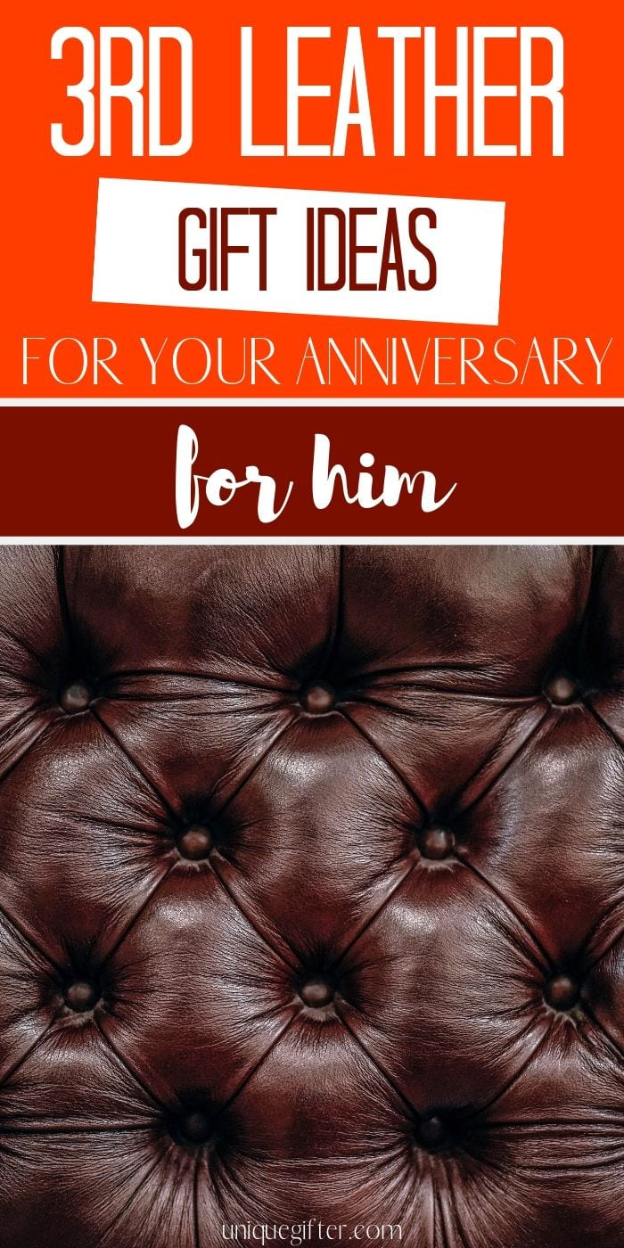 3rd Leather Anniversary Gifts for Him | 3rd Anniversary Gift Ideas for Him | Leather Gift Ideas for Him | What to buy for your 3rd Wedding Anniversary for Him | Modern Leather Gift Ideas for Anniversary | What to buy for 3rd Leather Wedding Anniversary | Anniversary Presents for Him | #Anniversary #LeatherGifts #3rdAnniversary