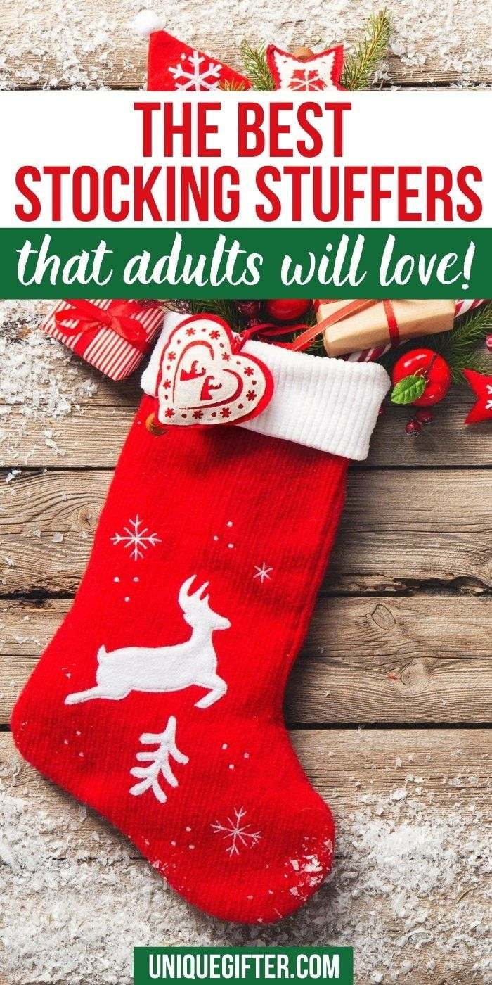 HUGE helpful list of stocking stuffers for adults. I know exactly what to put in Christmas stockings for adults. | Stocking Filler for Adults | Stocking Stuffers for Husband | Stocking Stuffers for Men | Stocking Stuffers for Women | Stocking Stuffers for My Wife | Christmas Socks for Seniors