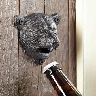 black bear bottle opener iron 6th anniversary gift