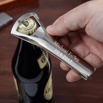 male teacher bottle opener personalized gift