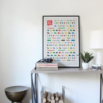 Lego art print wall decor poster