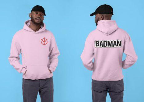 Badman Dragonball Z anime hoodie themed gift