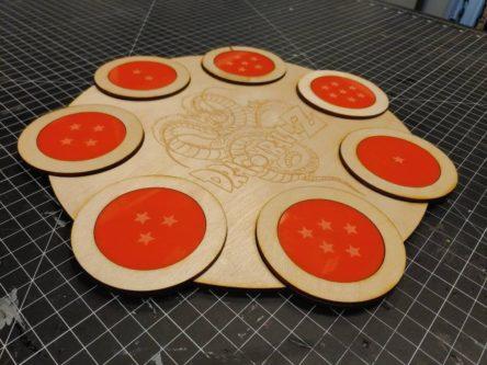 Dragonball Z custom made etched coaster set