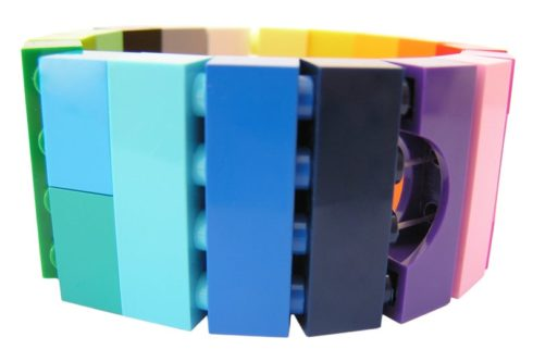 Colorful lego bangle