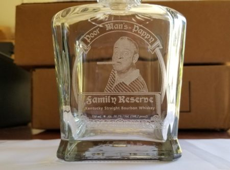 Custom etched decanter gift for him