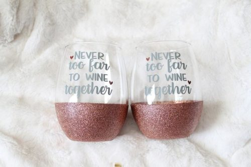 Gift ideas for internet friends include ones you can use to toast virtually!