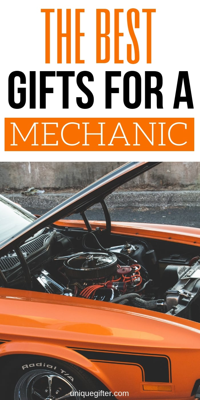 These are great gift ideas for mechanics. I love having ideas on hand for birthdays. Pinning this for later! | Mechanic gift ideas | Christmas presents for a mechanic | gifts for mechanics | Thank you gifts #gifts #giftideas #carmechanic #heavydutymechanic
