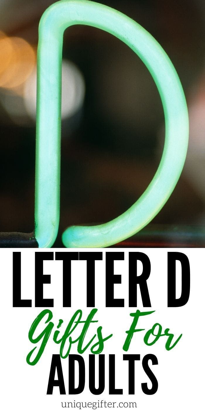 Setting up the world's best scavenger hunt? Use these inventive gift ideas that start with the letter D. | Birthday | Anniversary | Adult 20 Gift Ideas for the Letter D for Adults | How to find gift ideas that start with every letter of the alphabet | Themed birthday gifts for adults | Gift ideas for Dad | Presents for my Boyfriend or Girlfriend | #gifts #creativepresents #uniquegifter