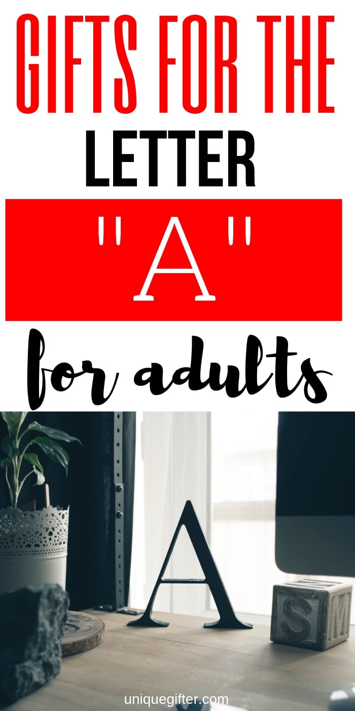 Setting up the world's best scavenger hunt? Use these inventive gift ideas that start with the letter A. | Birthday | Anniversary | Adult | Gifts that begin with the letter A #scanvengerhunt #giftideas #gifts #uniquegifter