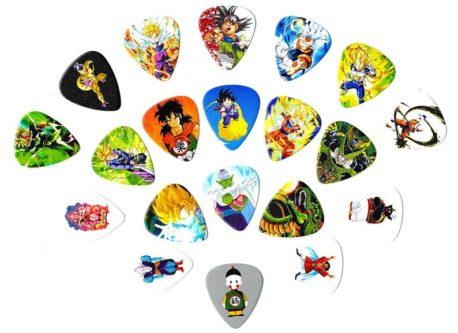 Dragonball Z guitar picks anime character picks