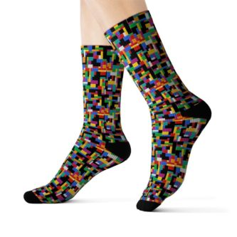 Lego pattern socks adult apparel gift