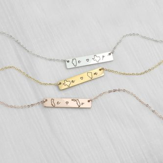 This gift ideas for internet friends is a cute twist on best friend jewelry!
