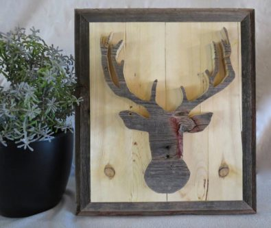 Rustic deer artwork hunting decor for boyfriend gift
