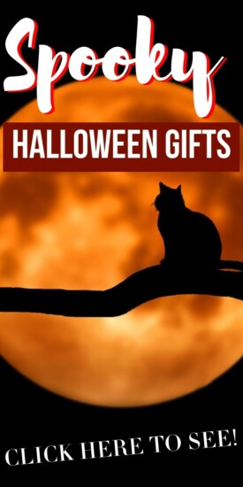 Do you have any friends that are ridiculously into Halloween? Get them one of these 13 super spooky Halloween gift ideas and make their day! #gifts #giftguide #halloween #spooky #unique