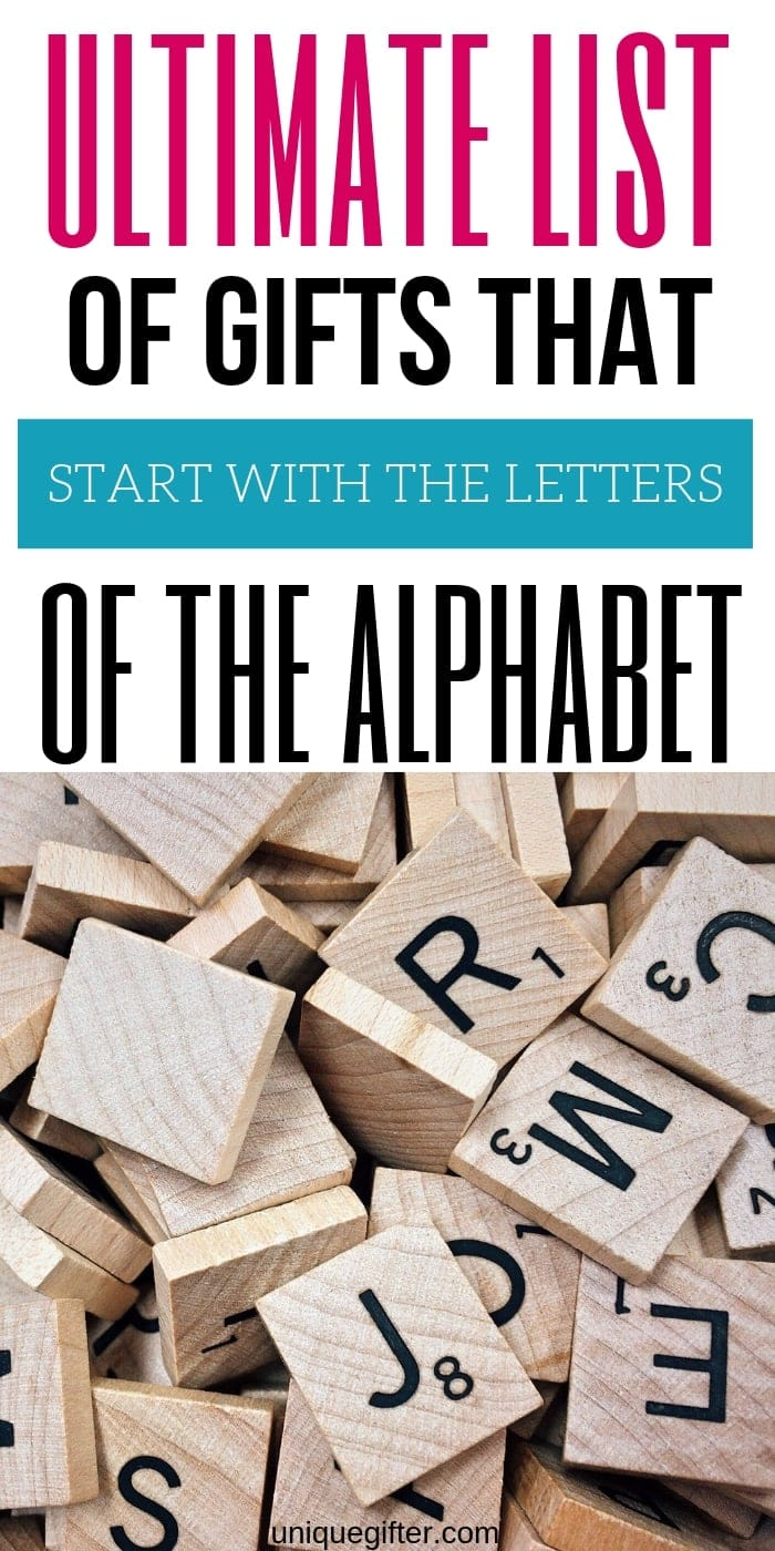 Gift Ideas that Start with Every Letter of the Alphabet | How to Host a Gift Exchange | Alphabet Theme Party Ideas | Secret Santa Tips | Family Gift Trade | Gifts that Start with the Letter | Scavenger Hunt Ideas #gifts #giftideas #scavengerhunt