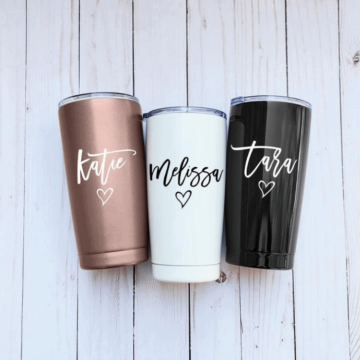 Personalized travel mug for girls gift idea Christmas
