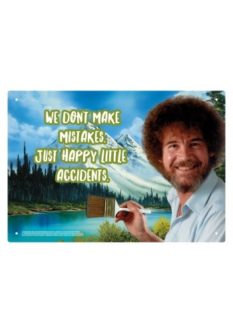 Bob Ross happy little accidents tin sign 10th anniversary gift
