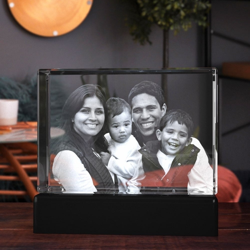 crystal photo frame customizable gift idea